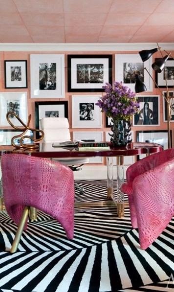 Kelly Wearstler Pink Home Office via AD