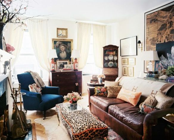 Leopard Bench via Lonny Mag