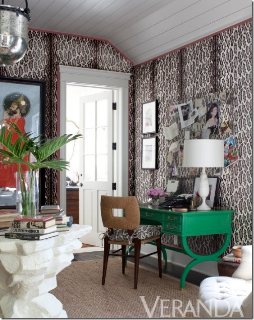 Leopard walls by Windsor Smith via Veranda