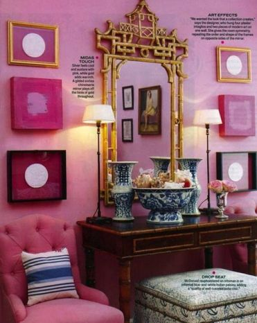 Mary McDonald Pink Hallway via Chinoserie Chic