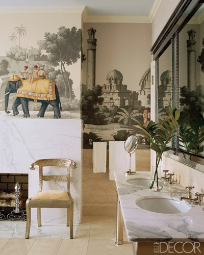 Miles Redd Wallpaper via Elle Decor