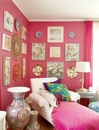 Pink Walled Room by Elaine Griffin