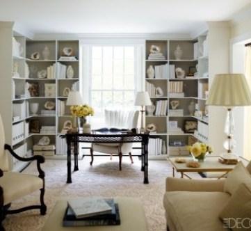 Sandra Lee's Home Office in Elle Decor
