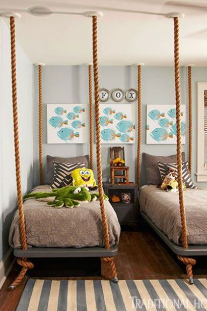 Schnell and Porch designed this twin bedroom for boys in TH
