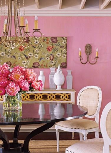 Suzanne Kassler Pink Dining Room via HB
