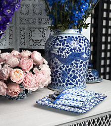 Tory Burch Blue and White Tabletop Collection