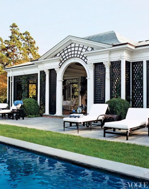 Tory Burch's Southampton Home Pool Via Vogue