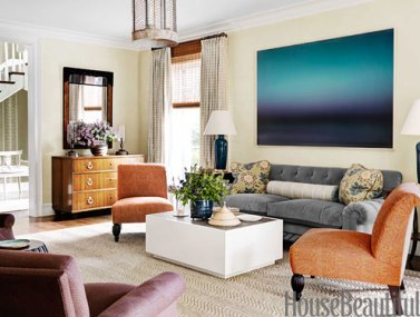 Beautiful living room by Markham Robert's via HB