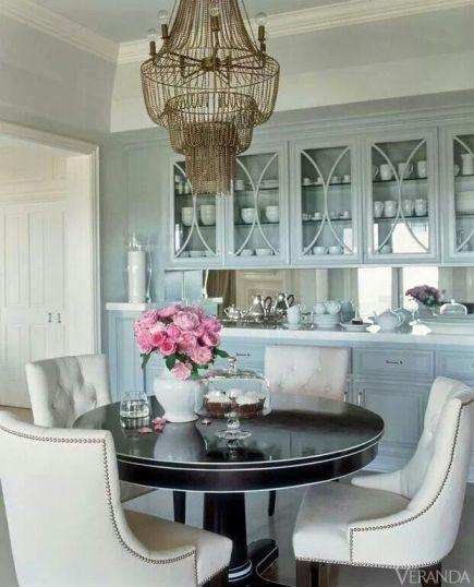 Blue China Butler's Dining room via Veranda