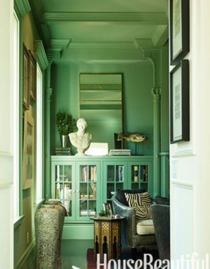 Color the ceiling all the way to the top by Ken Fulk via House Beautiful