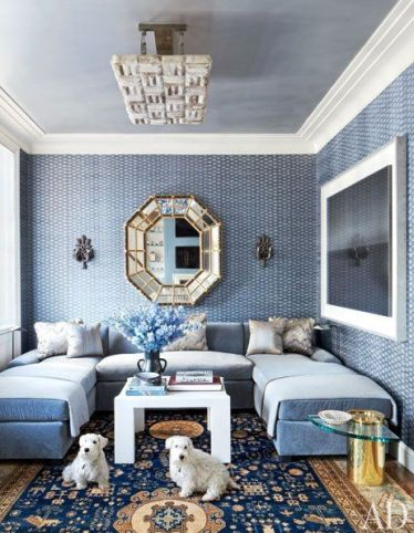 Interior Designer Michael S Smith uses John Robshaw for the walls via AD