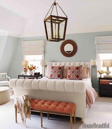 Lee Ann Thorton via House Beautiful with John Robshaw Pillows