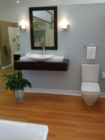 Open and clean hanicap bathroom design