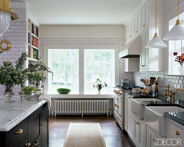 Subway is always fresh the potted boxwood for Elle decor kitchen ideas