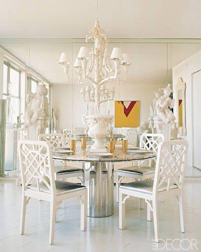 White dining room via Elle Decor