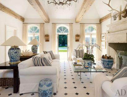 White living area via Ralph Lauren