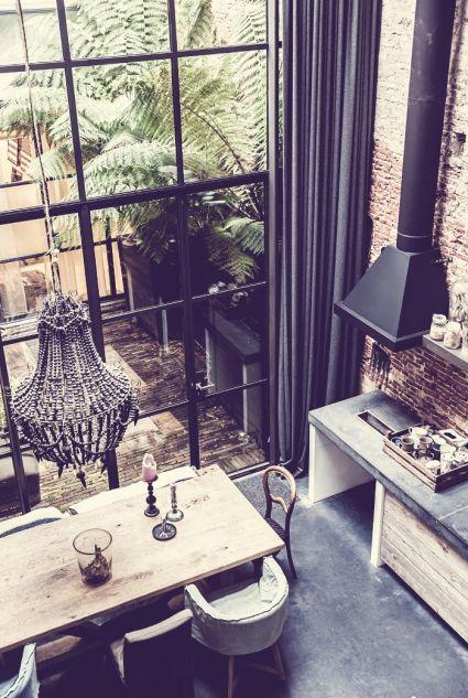 An industrial loft in Amsterdam via Jelanie Blog