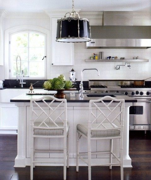Darryl Carter chic kitchen via Mark D Sikes