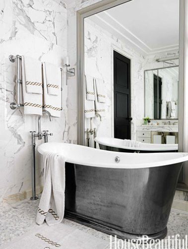 Freestanding Cast Iron Tub by Jamie Drake via HB