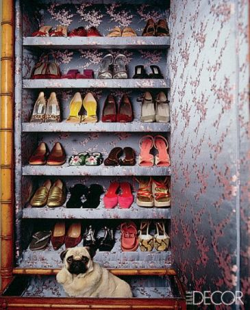 Pug in A Closet by Natasha Esch via Elle Decor