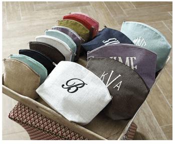 Ballard Designs Jute cosmetic bags