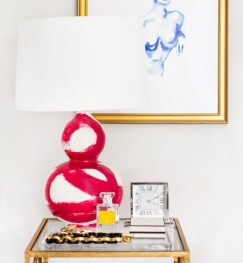 Jana BEK brushstroke lamp in fushia