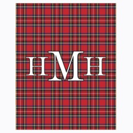 Me & Re Design Monogram Blankets