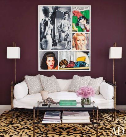 Plum and leopard via AD