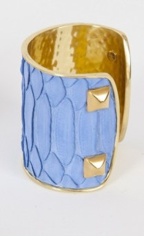 Taylor and Tessier Blue Python Cuff