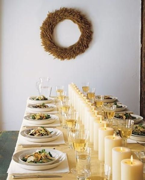 super simplistic tablescape via apartment therapy