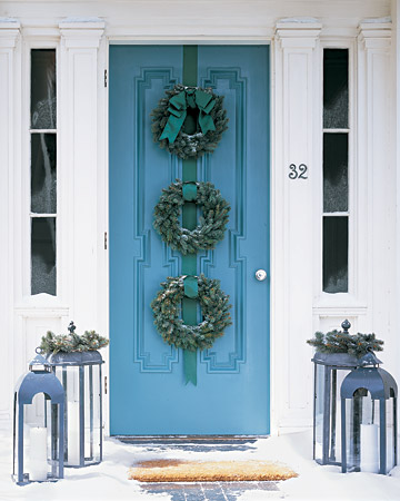 Blue door via Martha Stewart