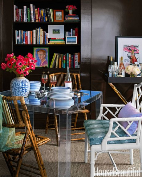 Dining area by Lilly Bunn in House Beautiful