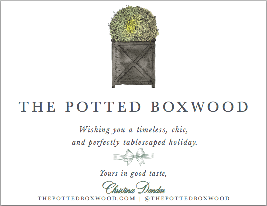 The Potted Boxwood Christmas Card by Kelly Bains Paper