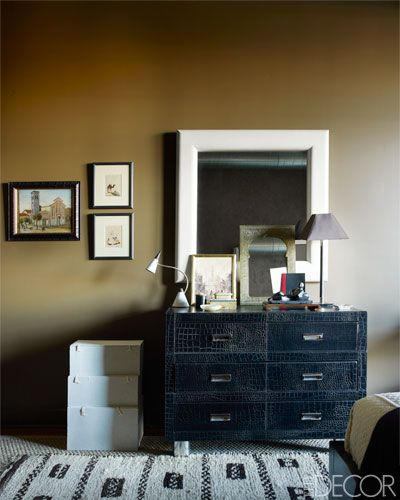 corcodile chest via Elle Decor