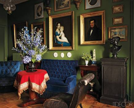 Blue and Green contrast in Andrew GN Paris Apartment