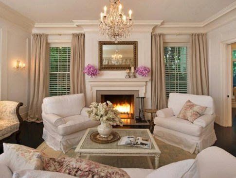Fireplace in Jennifer Lawrence LA home via Lonny