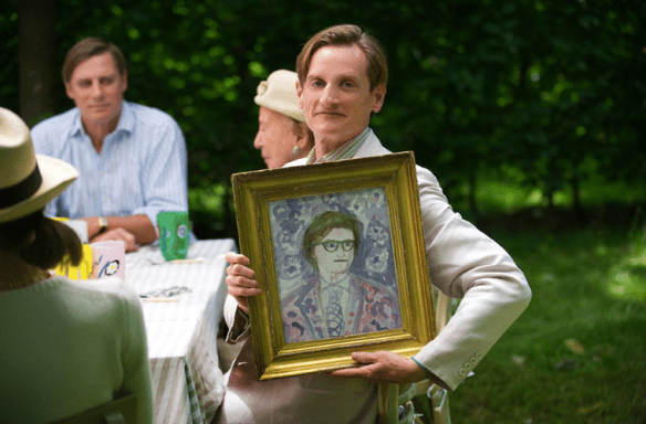Hamish Bowles with his portait