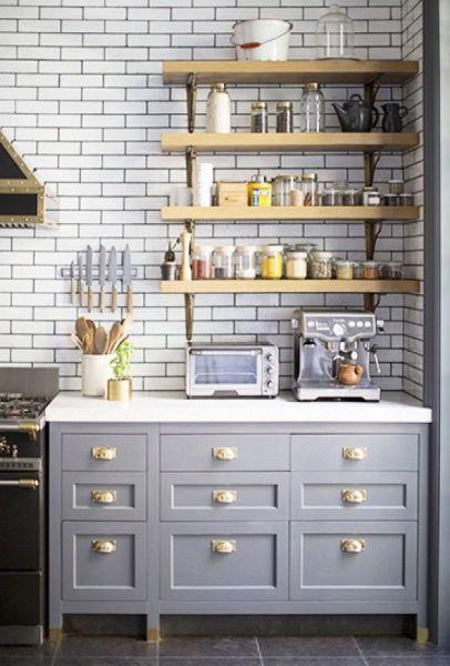 Gray kitchen via Domaine Home