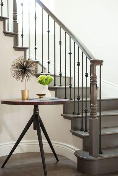 Gray staircase via Lonny