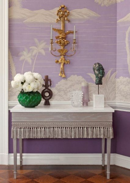 Philip Gorrivan purple hues with a splash of emerald
