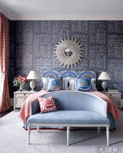 Bedroom of pattern designed by Sheila Bridges