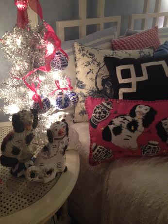 Daughters room in King Charles and Blue and White by Dana Mahnke on Etsy Indigo Home