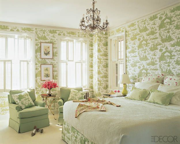Bon One Of My Favorite Green And White Toile Bedrooms That Looks Like A Serene  And Fresh Oasis. Via Elle Decor