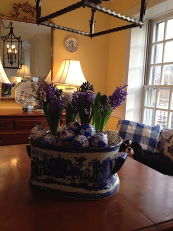 Hand painted blue and white Eggs by Dana Mahnke on Etsy Indigo Home