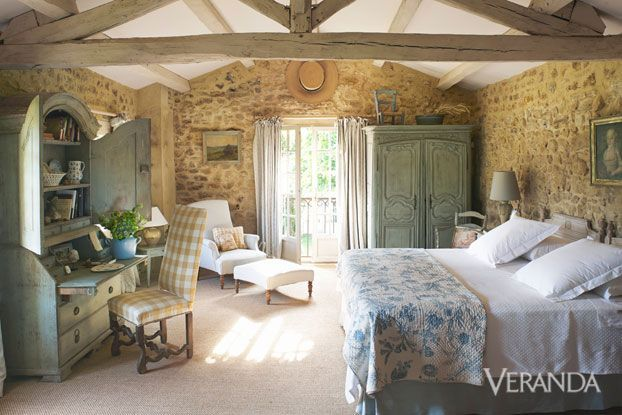 A Country Chic And Sweet Bedroom By Marston Lice. Via Veranda