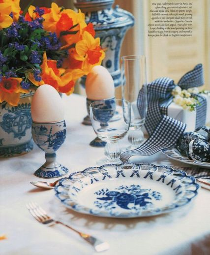 Easter Tablescape via The Pink Pagoda