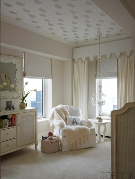 Ivanka Trump all white nursery via Elle Decor