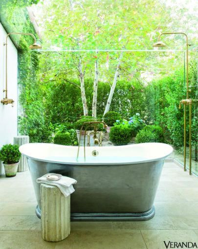 Like an outdoor shower inside via Veranda Magazine