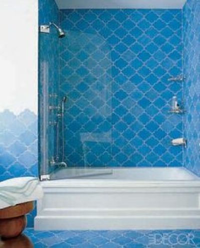 Moroccan tile by Katie Ridder via Elle Decor