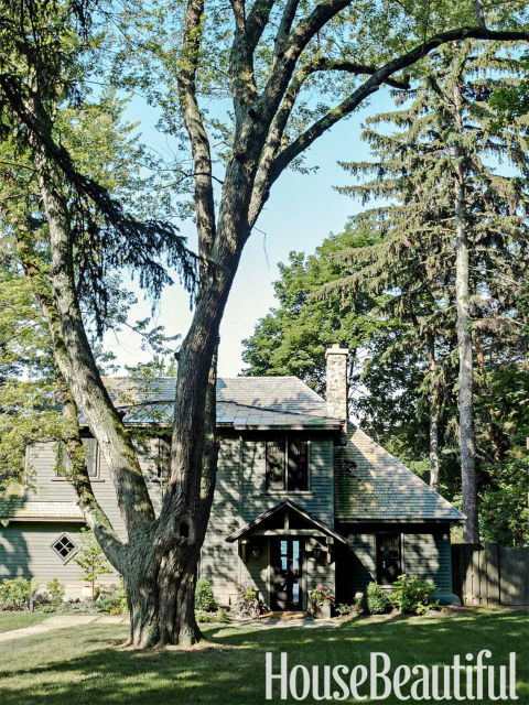 Thom Filicia Lake House lake house | the potted boxwood